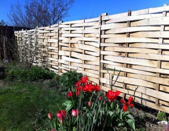 Woven Panel Fence Chestnut